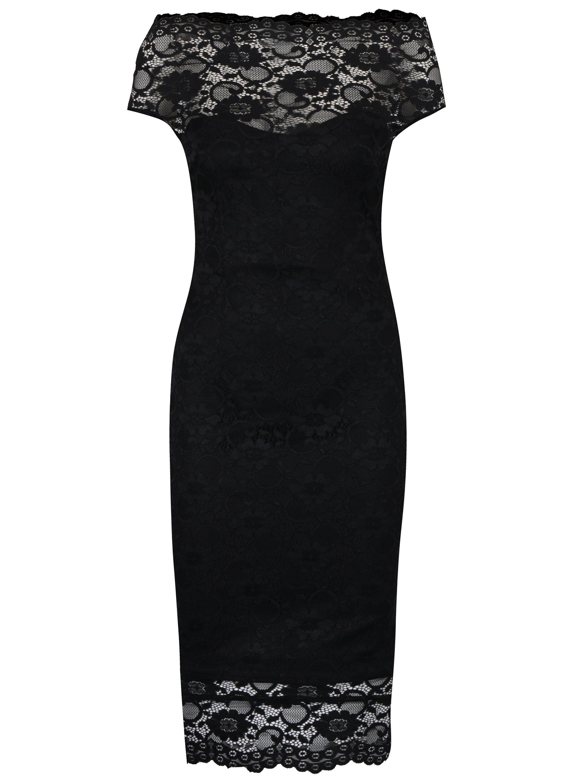 dee3ad03b59a Čierne puzdrové čipkované šaty ZOOT