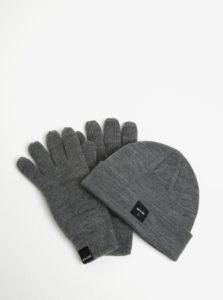 Súprava čiapky a rukavíc v sivej farbe ONLY & SONS X-box