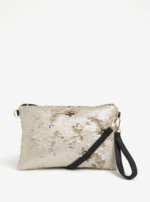 Béžová malá crossbody kabelka s flitrami Haily's Carla
