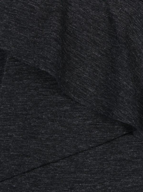 Tmavosivý melírovaný top s volánom Selected Femme Elma