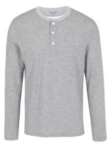Svetlosivé melírované tričko Jack & Jones Core Saint