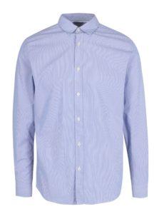 Svetlomodrá pruhovaná formálna slim fit košeľa Selected Homme