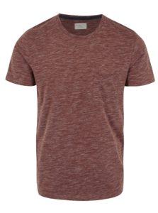 Vínové melírované tričko Selected Homme Richard
