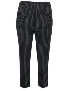 Tmavosivé pruhované nohavice s vysokým pásom Haily's Clara
