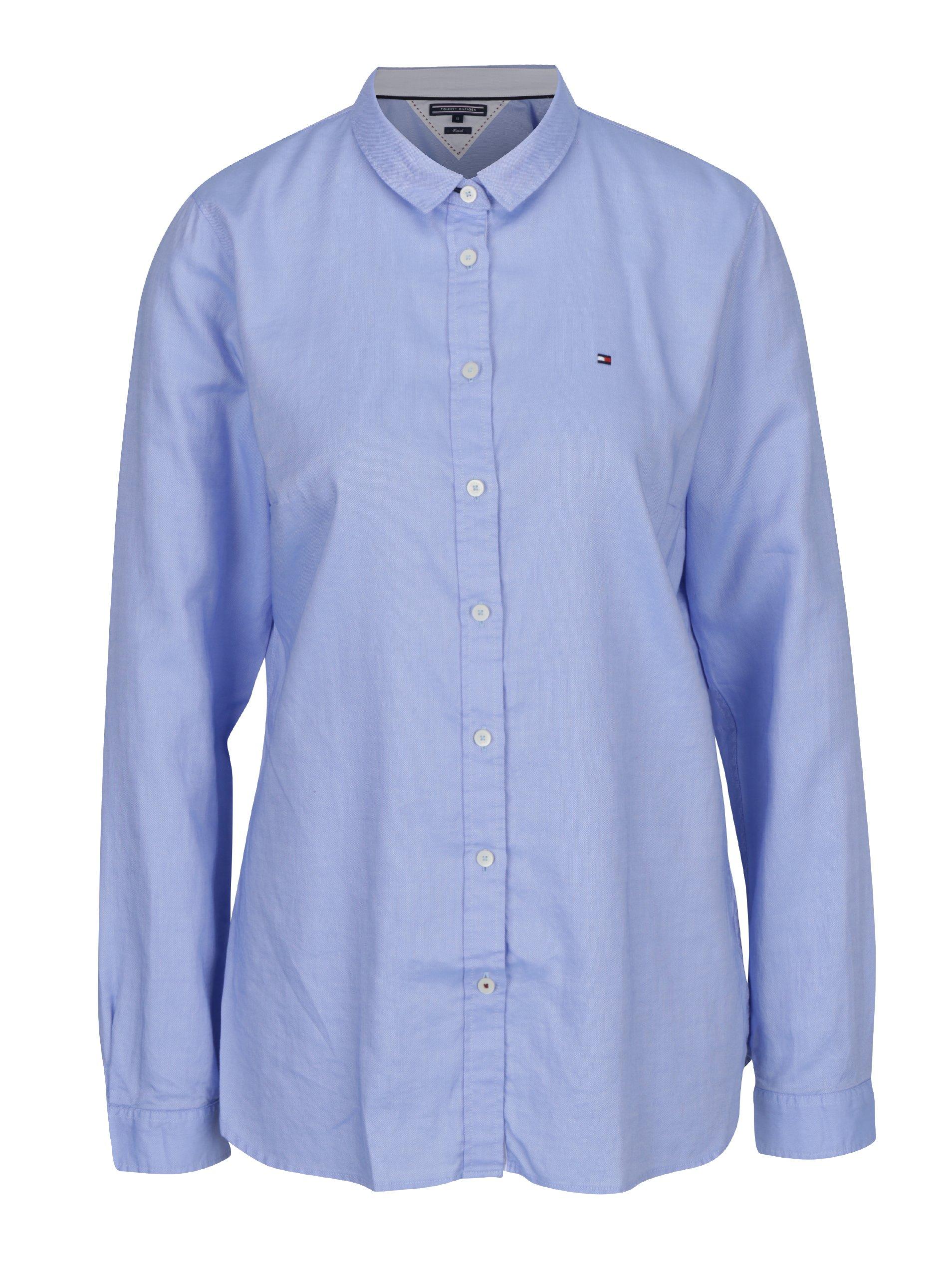 34b190985736 Modrá dámska fitted košeľa Tommy Hilfiger Jenna