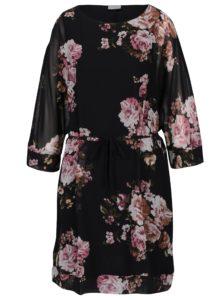 Čierne voľné kvetované šaty VILA Olisi