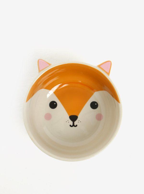 Oranžová miska v tvare líšky Sass & Belle
