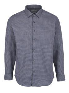 Sivá pánska vzorovaná formálna slim fit košeľa Seven Seas Kansas