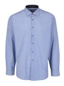 Svetlomodrá pánska vzorovaná formálna košeľa Seven Seas