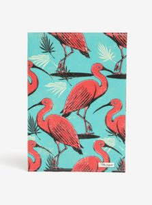 Ružovo-tyrkysový zápisník s motívom plameniakov I Like Paper A5