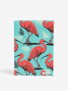 Ružovo-tyrkysový zápisník s motívom plameniakov I Like Paper A6