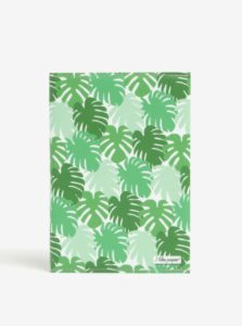 Zelený zápisník v motívom listov I Like Paper A6