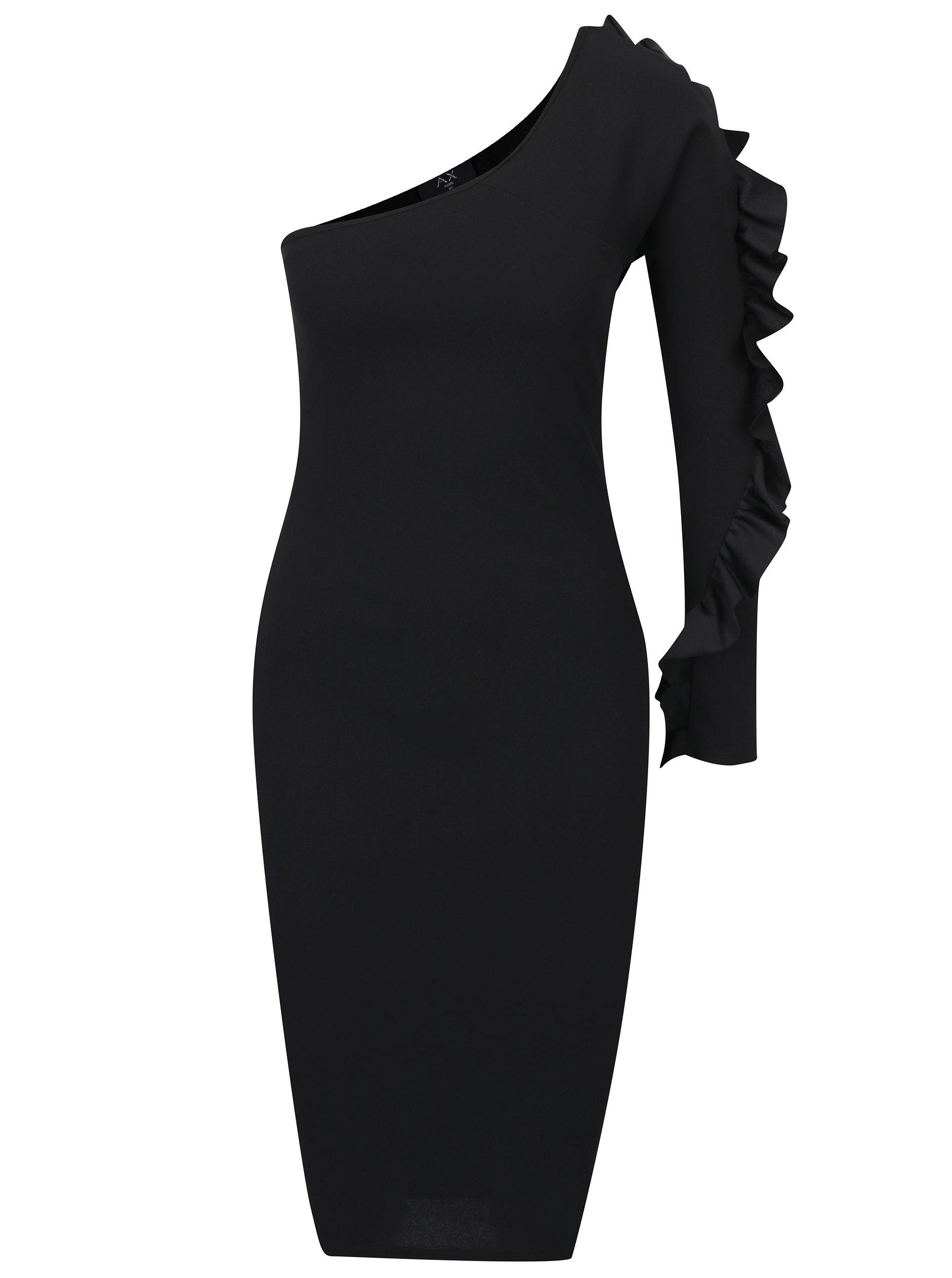 Čierne asymetrické puzdrové šaty AX Paris  36c8eeff7dc