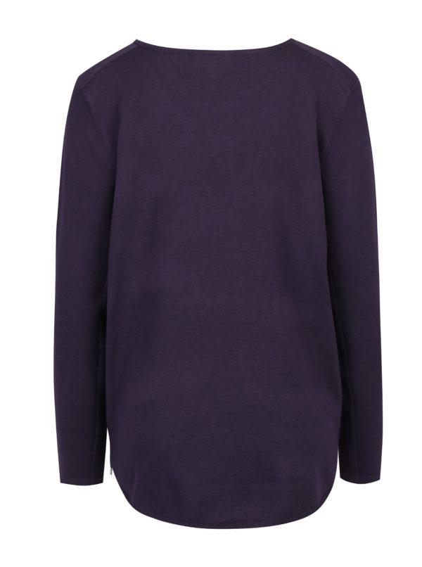 Fialový sveter so zipsami Apricot