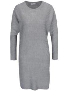 Svetlosivé svetrové šaty Jacqueline de Yong