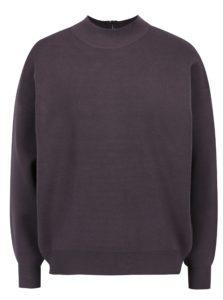 Fialový sveter so zipsom na chrbte Apricot