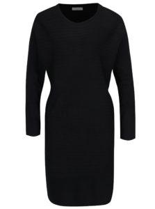 Čierne svetrové šaty Jacqueline de Yong
