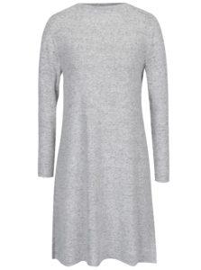 Sivo-krémové melírované svetrové šaty ONLY Leo