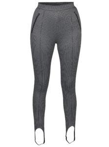 Krémovo-čierne vzorované nohavice Noisy May Ainsley