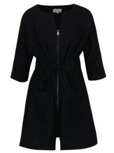 Čierne šaty so zipsom a opaskom Apricot