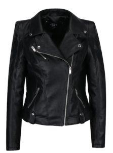 Čierna koženková bunda VERO MODA Tina