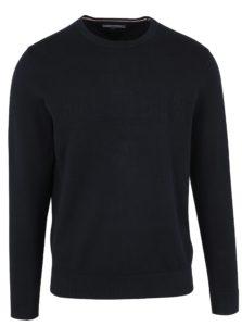 Tmavomodrý pánsky tenký sveter Tommy Hilfiger
