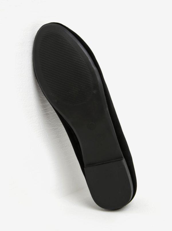 Čierne zamatové mokasíny so strapcami Miss KG Madeline