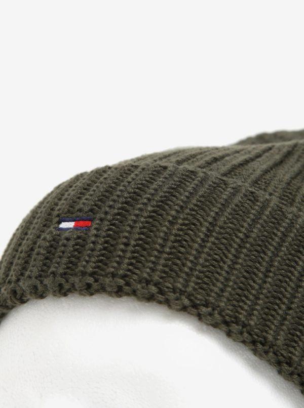 Kaki pánska čiapka Tommy Hilfiger  fd3ffb80c55