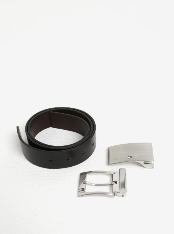 Čierny pánsky kožený opasok Tommy Hilfiger