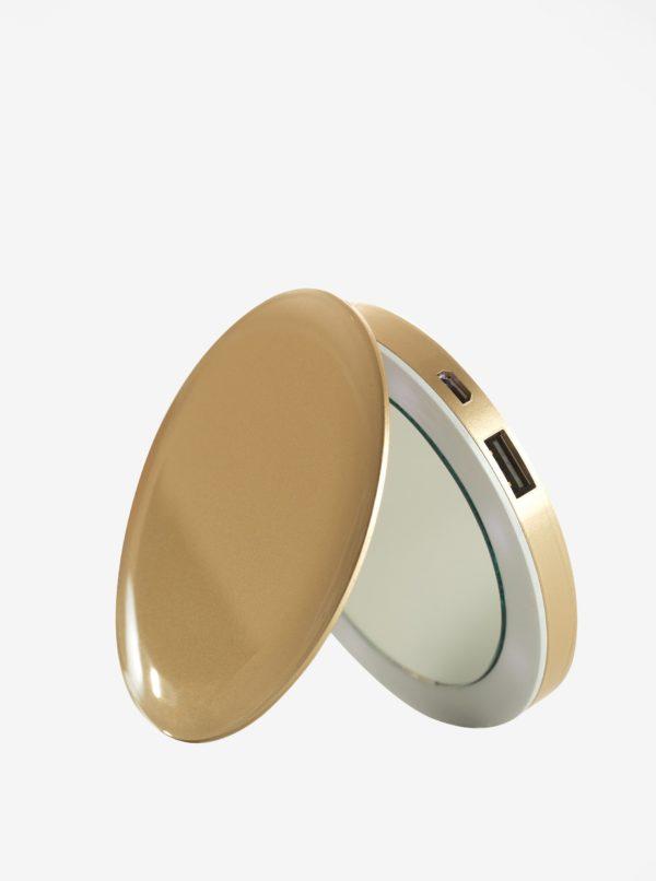 Power banka so zrkadielkom v zlatej farbe Hyper Pearl