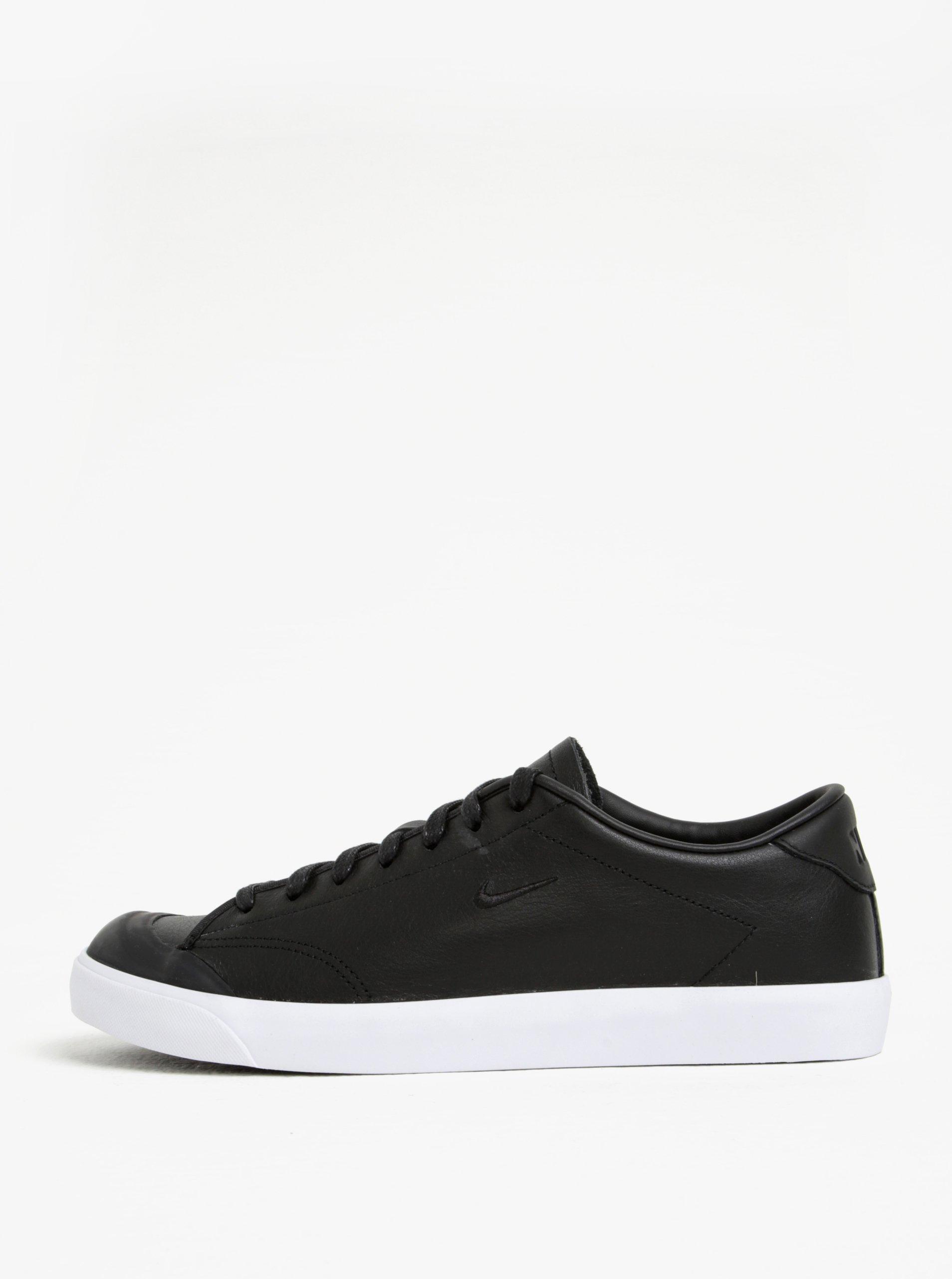 352dc42d24e Čierne pánske kožené tenisky Nike All Court 2 Low