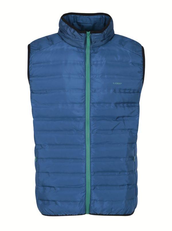 Modrá pánska vodovzdorná prešívaná vesta LOAP Itep
