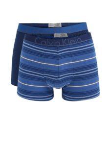 Súprava dvoch boxeriek v modrej farbe Calvin Klein
