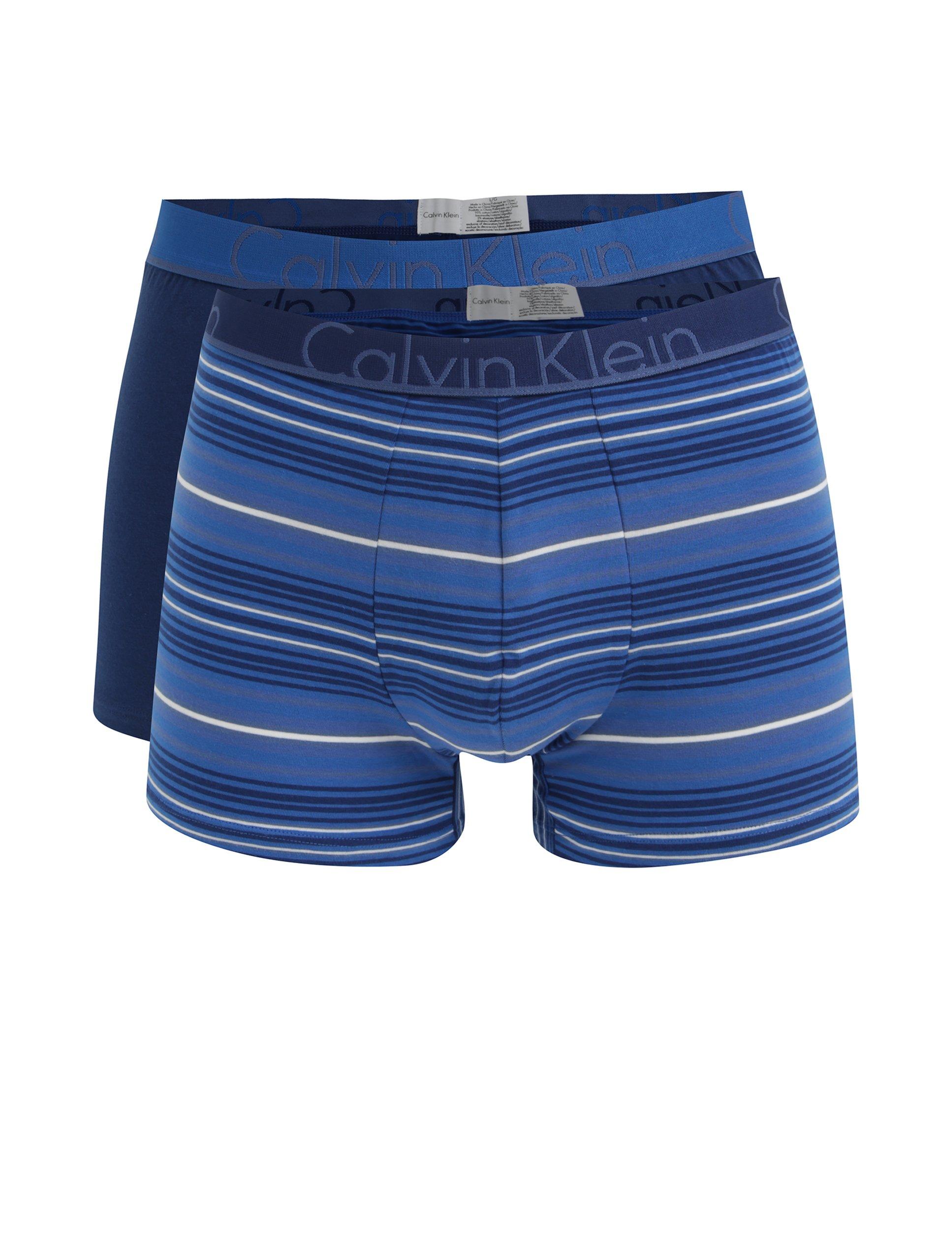 b56e700c9d Súprava dvoch boxeriek v modrej farbe Calvin Klein