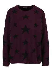Fialový vzorovaný sveter Jacqueline de Yong Noel