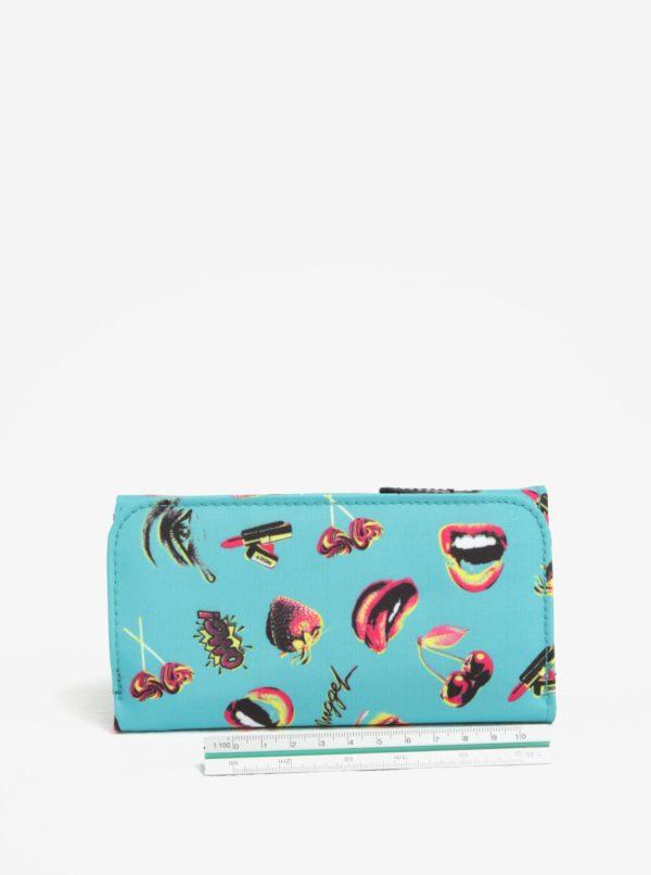 Modrá dámska peňaženka s potlačou NUGGET Elise