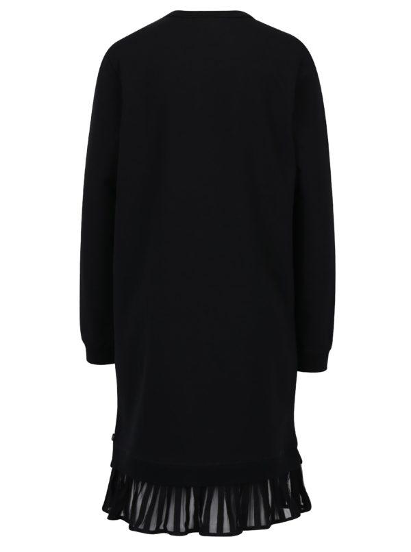 Čierne mikinové šaty s volánom Scotch & Soda