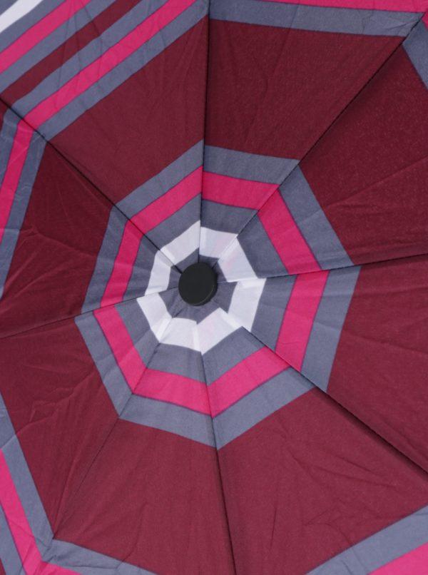 Sivo-vínový dámsky skladací dáždnik s.Oliver