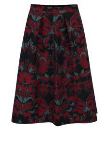 Červeno-čierna skladaná sukňa Scotch & Soda
