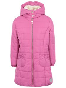 Ružový dievčenský vodovzdorný zimný prešívaný kabát 5.10.15.