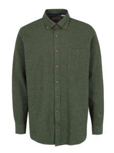Zelená vzorovaná comfort fit košeľa JP 1880