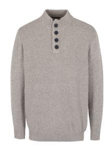 Béžový melírovaný sveter s gombíkmi JP 1880