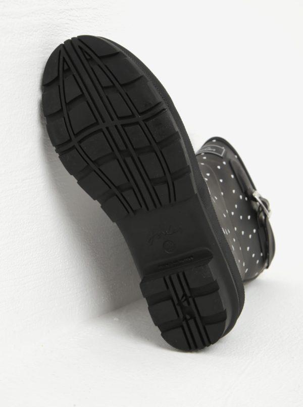 Čierne dámske vzorované gumáky Tom Joule MollyWelly