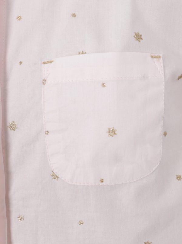 Ružová dievčenská trblietavá košeľa s dlhým rukávom 5.10.15.