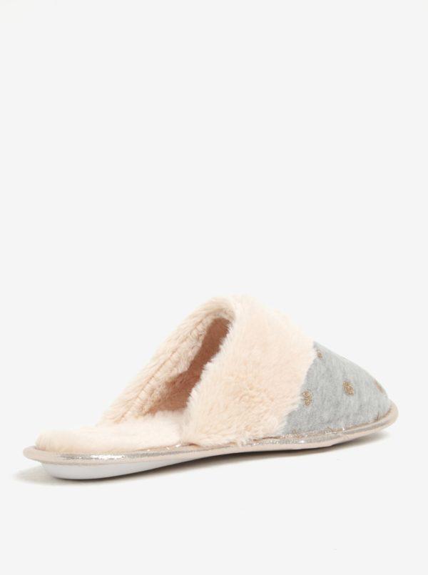 Sivé trblietavé papuče Dorothy Perkins