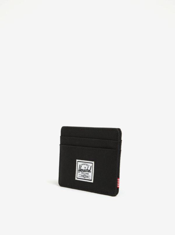 Čierne pánske puzdro na karty Herschel Charlie
