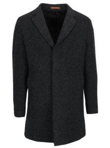Tmavosivý vlnený kabát Jack & Jones Premium Marlow