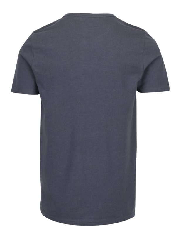 Sivé tričko s potlačou Jack & Jones Vintage Recycle Adam