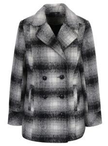 Sivý vzorovaný krátky kabát M&Co