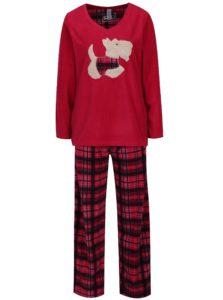 Tmavoružové fleecové pyžamo M&Co